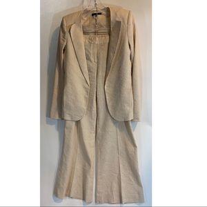 Theory Linen Blend blazer suit pants Khaki 6-8